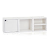white bookshelves, white storage cubes, white cube storage, white cubbies, white cubby storage, white storage cube, white cube bookcase, white stackable storage cubes, white cube with door