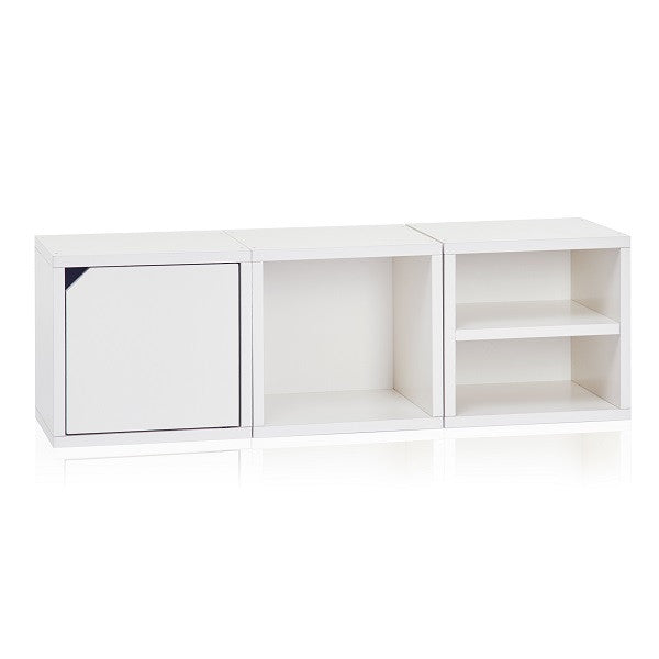 White Stackable Cube with Shelf | VOC & Formaldehyde Free