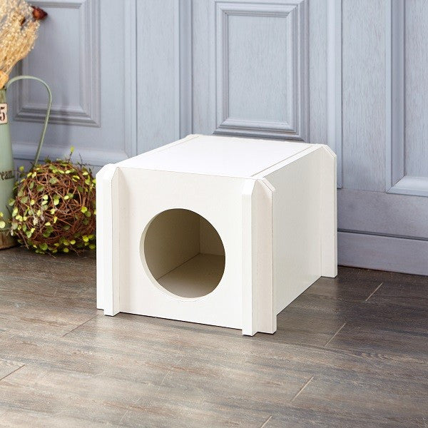 White Cat House, White Cat Shelves, White Cardboard Cat House, White Kitten  House