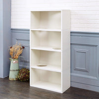 Cat Jumping Bookcase, Natural White