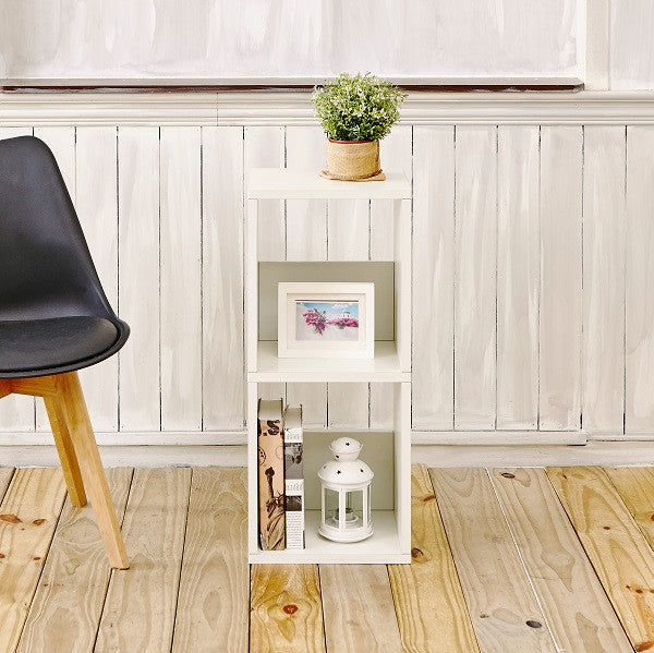 Duo Narrow Shelf, Natural White