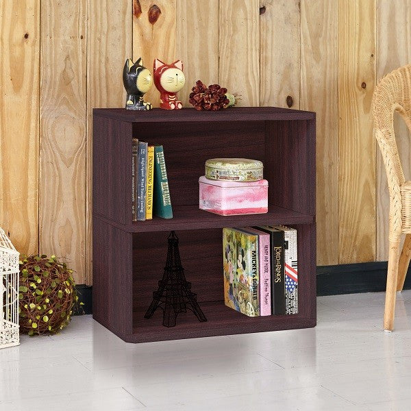 Surprising Webster 2 Shelf Bookcase Espresso Home Interior And Landscaping Elinuenasavecom