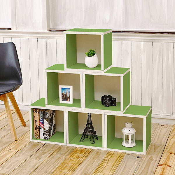 Excellent Storage Cubes In Green And Stackable Cubby Bookcase Way Basics Download Free Architecture Designs Jebrpmadebymaigaardcom