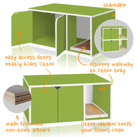 Cat Litter Box Enclosure, Green (1 unit left!)