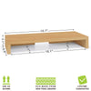 natural monitor stand, natural monitor rise, natural display riser, natural display stand, natural computer riser, natural computer stand