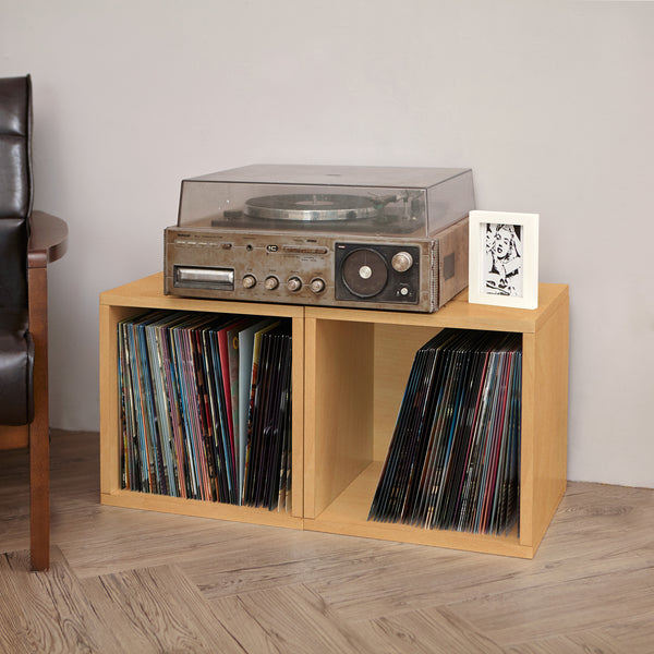 Natural Closet Organizers, Natural Storage Cubes, Natural Cube Storage,  Natural Vinyl Record Storage