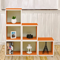 orange bookshelves, orange storage cubes, orange cube storage, orange cubbies, orange cubby storage, orange storage cube, orange cube bookcase, orange stackable storage cubes