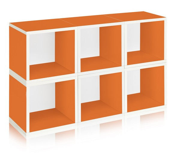 Modular Cubes (Set of 6) - Orange - Products Tagged