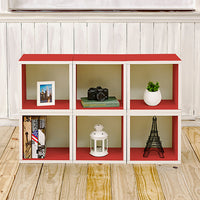 red bookshelves, red storage cubes, red cube storage, red cubbies, red cubby storage, red storage cube, red cube bookcase, red stackable storage cubes