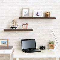 "Grenada 30"" Soft Grain Wall Shelf, Dark Teak"
