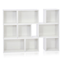 white shoe rack, white shoe shelf, white shoe shelving, white shoe cube, white stackable shelf, white stackable bookcase, white stackable shelving, white shoe bookcase