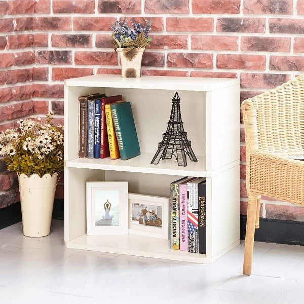 Magnificent 2 Shelf White Bookcase Eco Friendly Way Basics Home Interior And Landscaping Elinuenasavecom