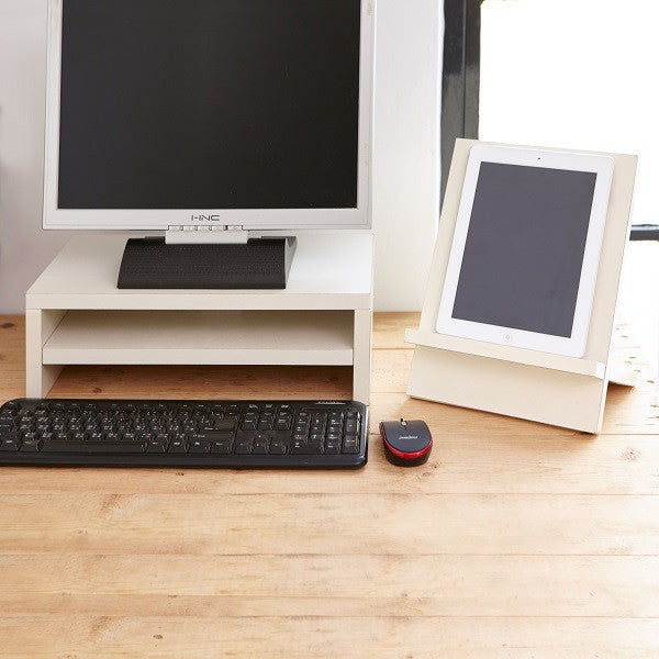 Monitor Stand and Computer Riser in White Way Basics