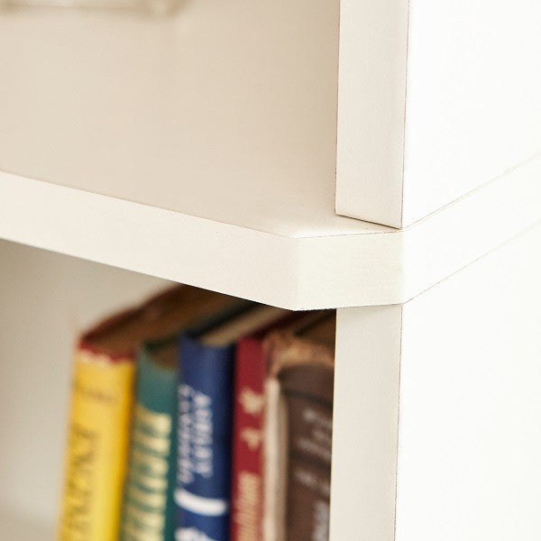 office bookcase bookshelves white shelf essentials bookcases home room trestle espresso target furniture