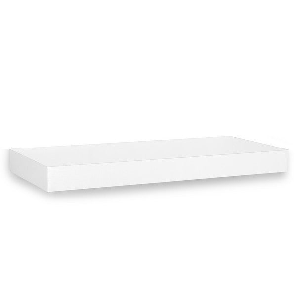 White Floating Wall Shelf wall shelf and floating wall shelving | way basics