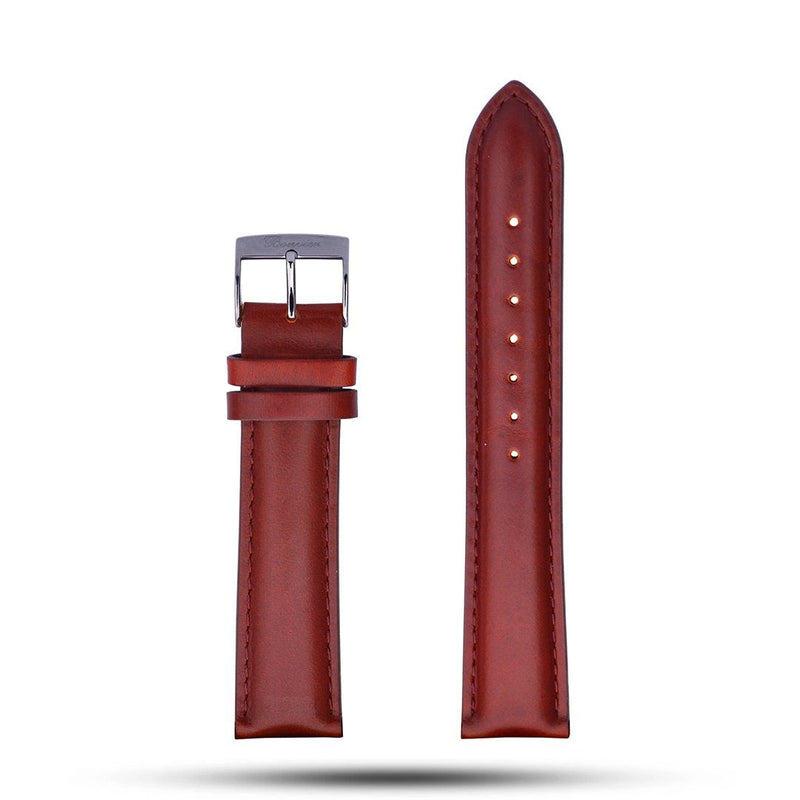 Brown Leather Strap - Metal