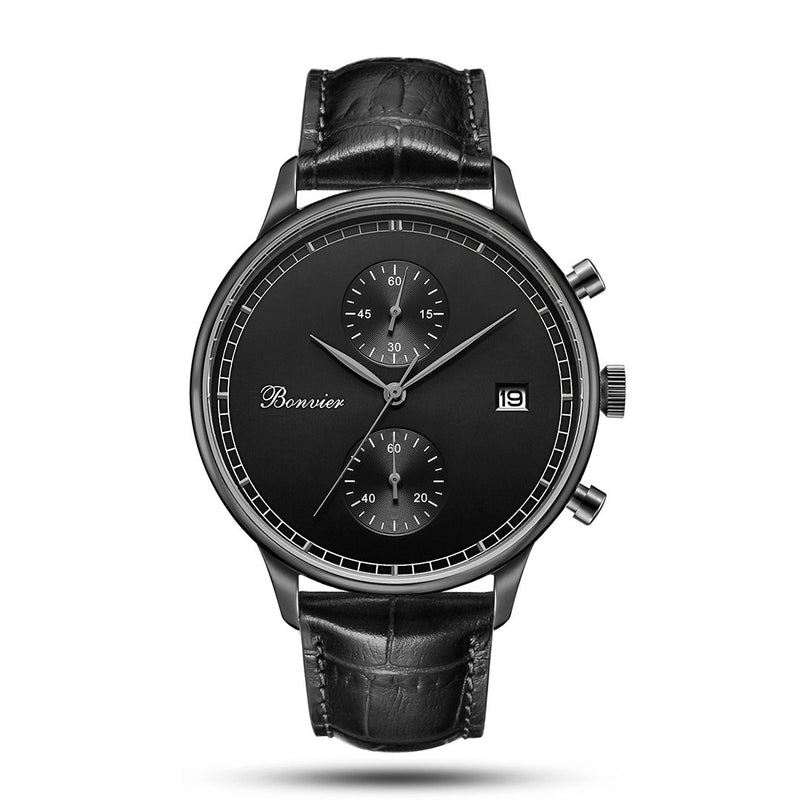 Watch - LUGANO BLACK (42 Mm)
