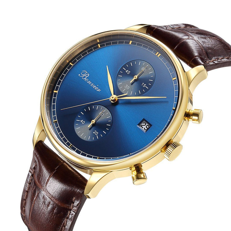 Watch - LUGANO BLUE/G (42 Mm)