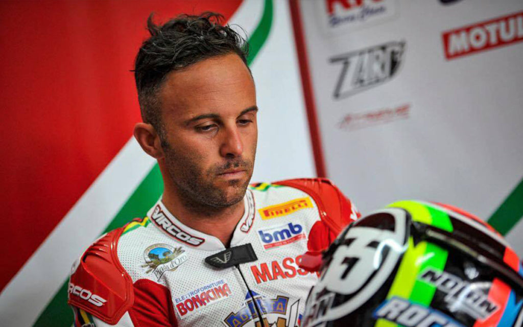 MOTORCYCLING: MOTORBIKE SUPERSPORT CHAMPION MASSIMO ROCCOLI ROLLS