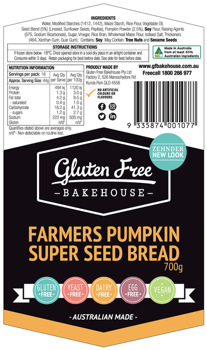 Farmers Pumpkin Superseed Loaf