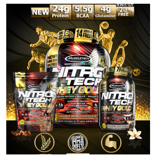 Whey Factory muscletech NITRO-TECH 100% Whey Gold