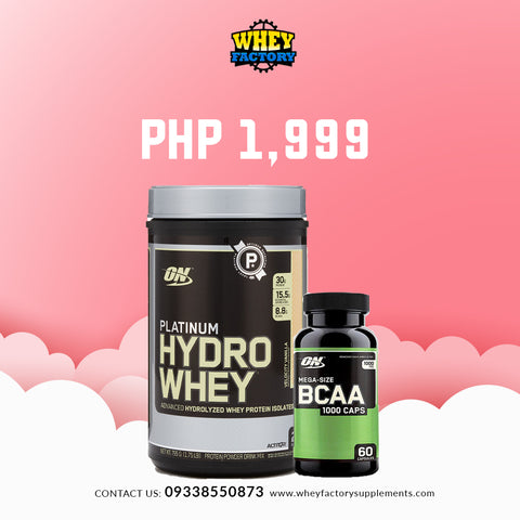 PROMO! ON Platinum Hydro Whey 1.75lbs w/ FREE ON BCAA 60 caps