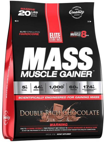 ELITE LABS Mass Muscle Gainer 20lbs/35servings