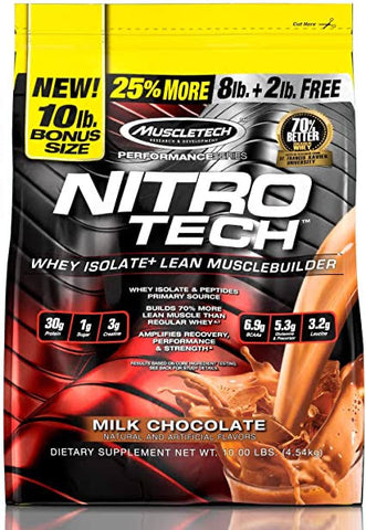 Nitrotech Whey Performance Series 10lb