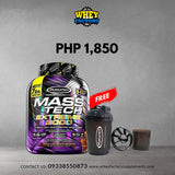 Muscletech Masstech Extreme 7lbs/14serv with FREE Shaker with Powder Compartment