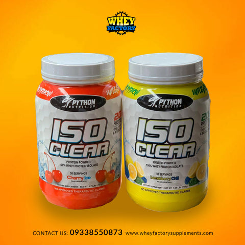 Python ISO Clear 100% Whey Protein Isolate