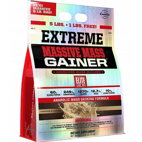 Elite Labs Mass Gainer 6lbs with FREE Elite Labs Shaker