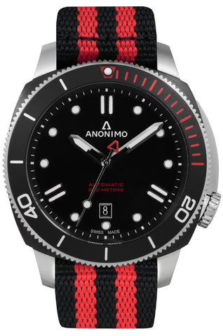 Anonimo Nautilo red nato watch