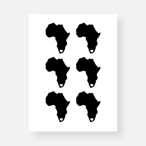 Africa Sticker Sheet