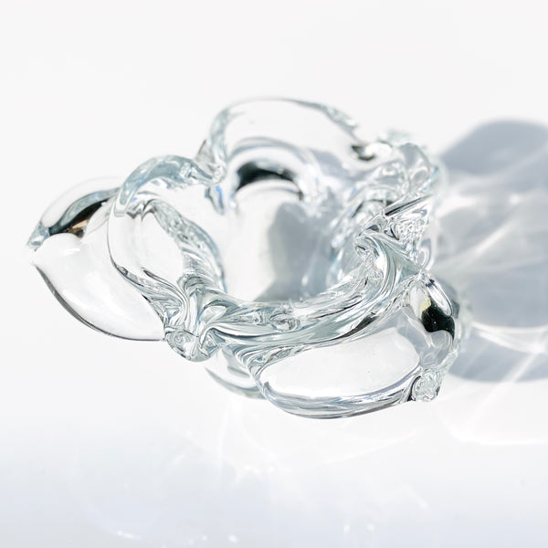 Clear Orchid Murano Ashtray