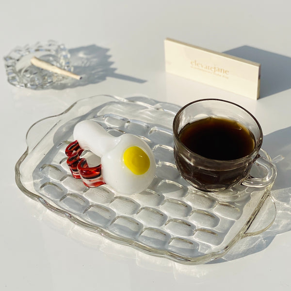 Wake & Bacon Rolling Tray + Mini Ashtray Set