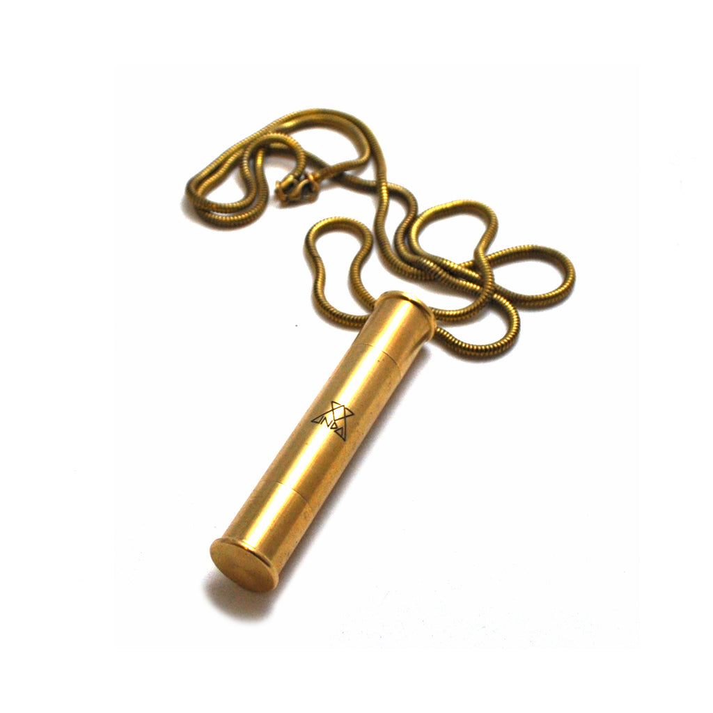 Pipe Necklace || Brass