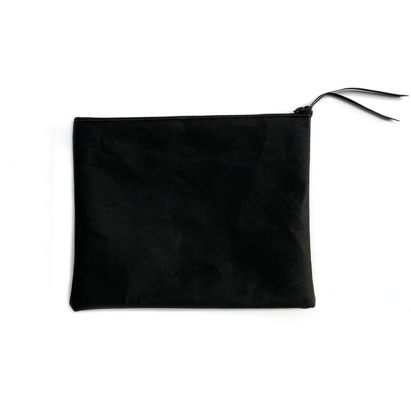 Elevate Jane Stash Pouch - Black w/ Black Zipper