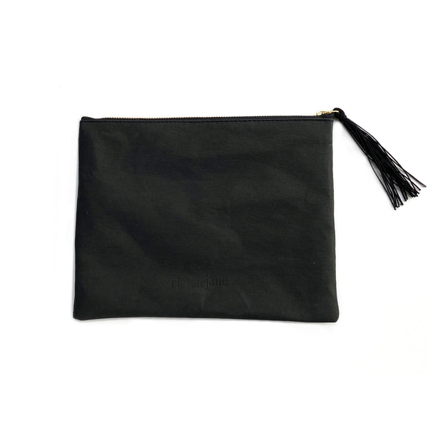 Stash Pouch - Black w/ Gold Zipper