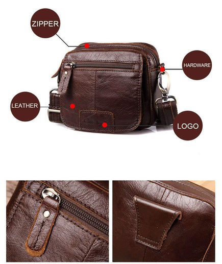 Best Messenger Bag for Men-Messenger Bag-Online GMall-Coffee-Russian Federation-14cm X 12cm X 8cm-Online GMall