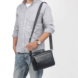 Best Quality Leather Handbags For Men-Handbag-Online GMall-Black-Online GMall