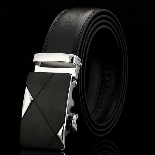 Black Leather Belts For Men-Belts-Online GMall-Belt 10-110cm-Online GMall