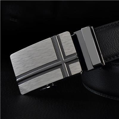 Black Leather Belts For Men-Belts-Online GMall-Belt 8-110cm-Online GMall
