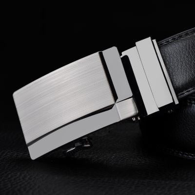 Black Leather Belts For Men-Belts-Online GMall-Belt 18-110cm-Online GMall