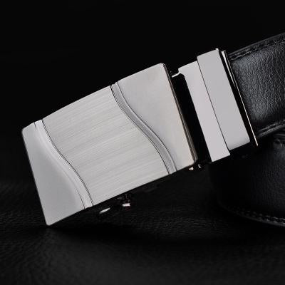 Black Leather Belts For Men-Belts-Online GMall-Belt 15-110cm-Online GMall