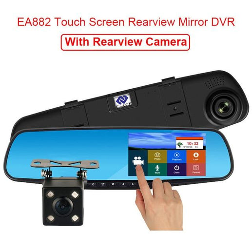 Car DVR Touch Screen-Car DVR-Online GMall-Two Camera Lens-China-No Card-Online GMall