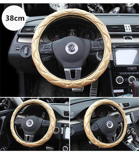 Car Steering Wheel Cover-Steeering cover-Online GMall-gold 38cm-Online GMall