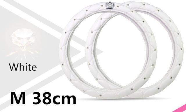 Car Steering Wheel Cover-Steeering cover-Online GMall-white 38cm-Online GMall