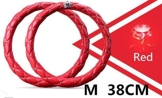 Car Steering Wheel Cover-Steeering cover-Online GMall-red 38cm-Online GMall
