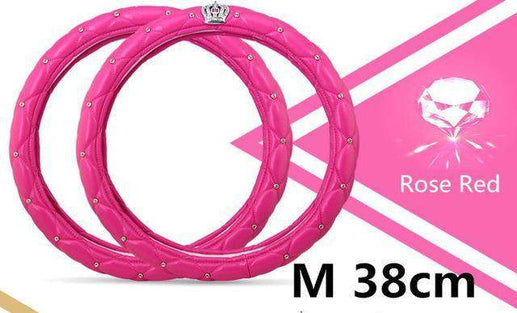 Car Steering Wheel Cover-Steeering cover-Online GMall-rosy 38cm-Online GMall