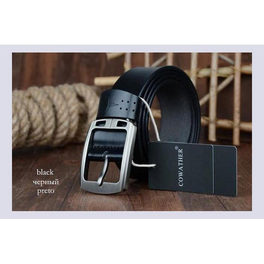 Genuine Leather Belts For Men-Belt-Online GMall-XF001 black-100cm-Online GMall